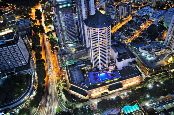 Картинка города сингапур ночь