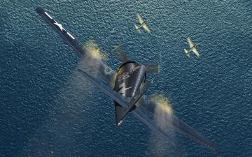 Картинка авиация 3д рисованые graphic вода