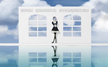 Картинка аниме evangelion фон взгляд девушка