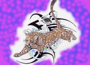 обоя gepard, рисованные