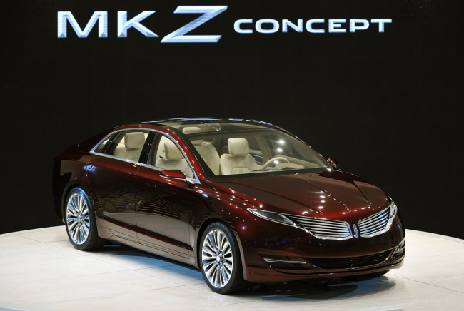 Обои картинки фото lincoln mkz concept naias 2012, автомобили, lincoln, 2012, naias, concept, mkz