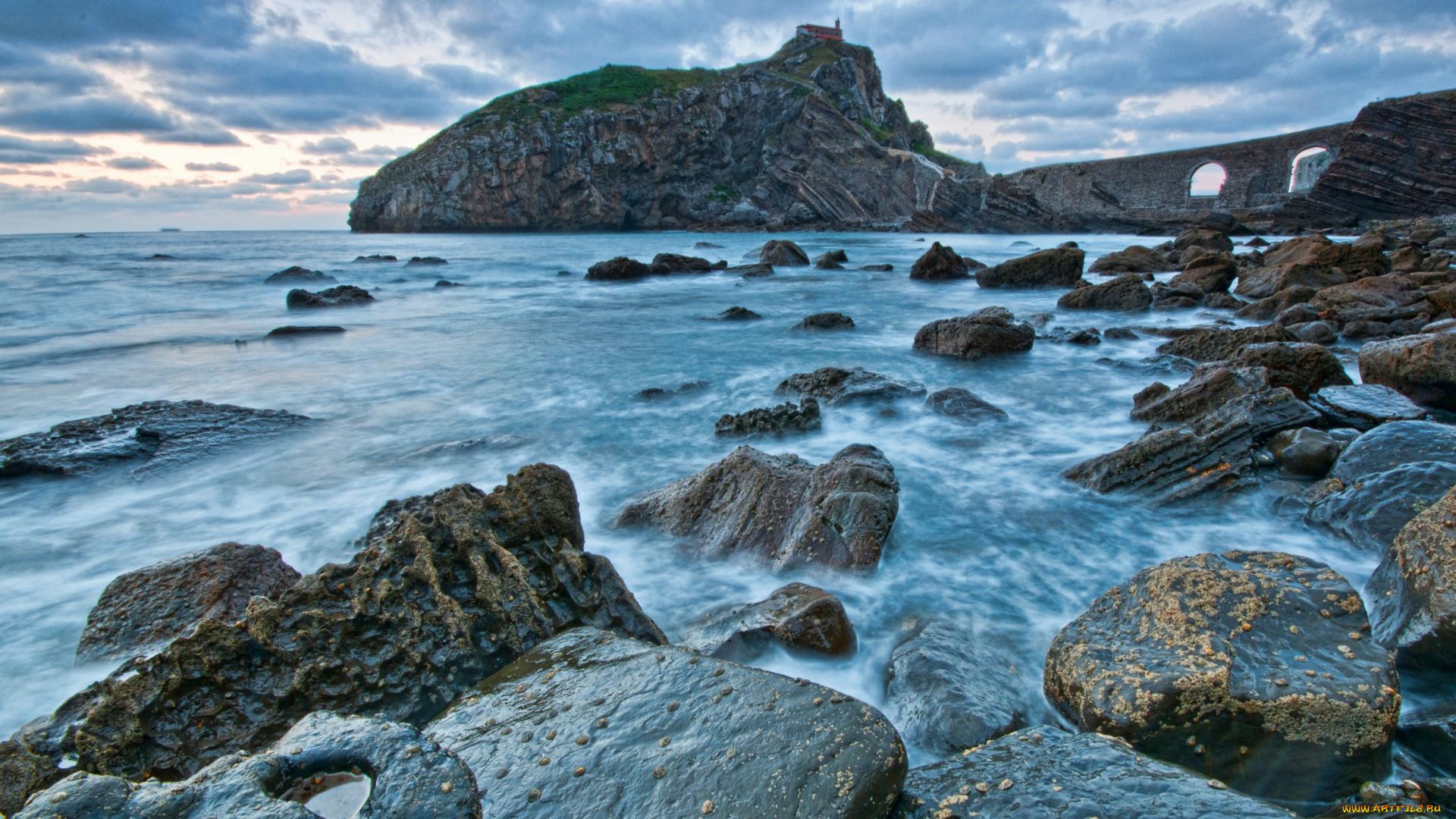 скала море камни rock sea stones  № 45294  скачать