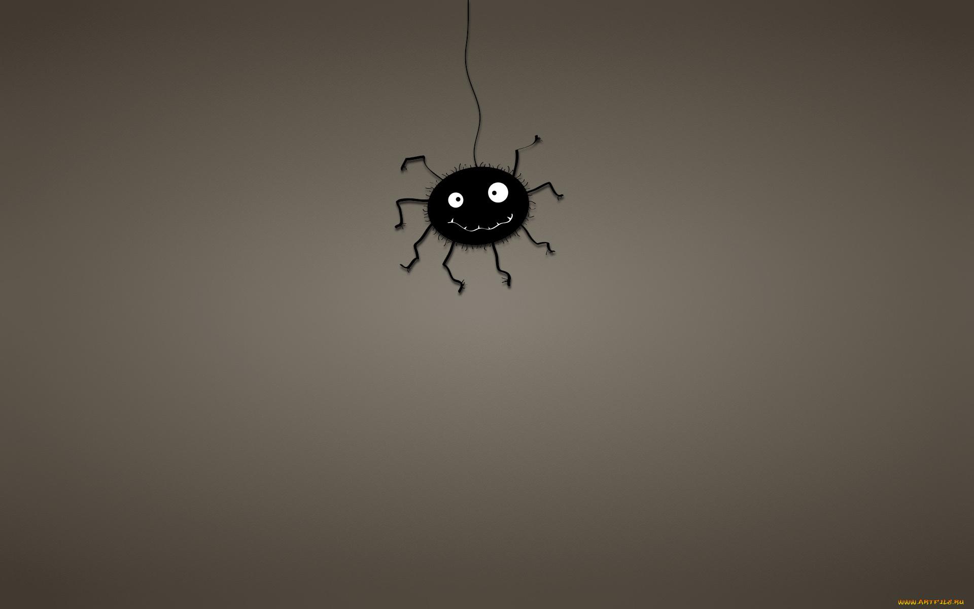 Смешной рисунок паука