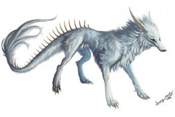 Картинка рисованные животные +сказочные +мифические лиса