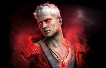 обоя видео игры, devil may cry 4, парень, кулон, демон, блондин