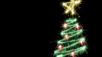 Картинка праздничные Ёлки блеск огоньки ёлка