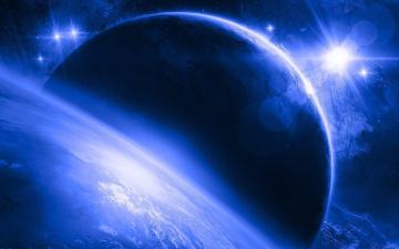 Картинка космос арт квазары спутники планета
