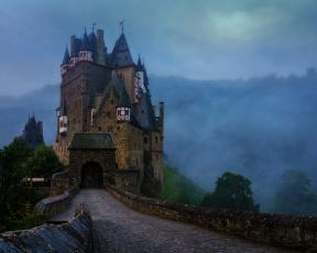 обоя города, замки германии, тучи, небо, германия, замок, эльц