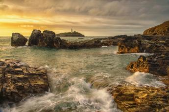 обоя природа, маяки, берег, море