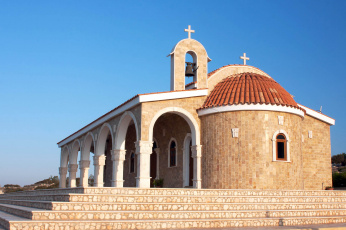 обоя города, - католические соборы,  костелы,  аббатства, кипр, айя, напе, церковь, святого, епифания