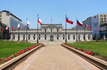 обоя города, - здания,  дома, дворец, президента, ла-монеда, Чили, сантьяго