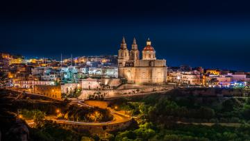 обоя mellie&, 295, a malta, города, - огни ночного города, ночь