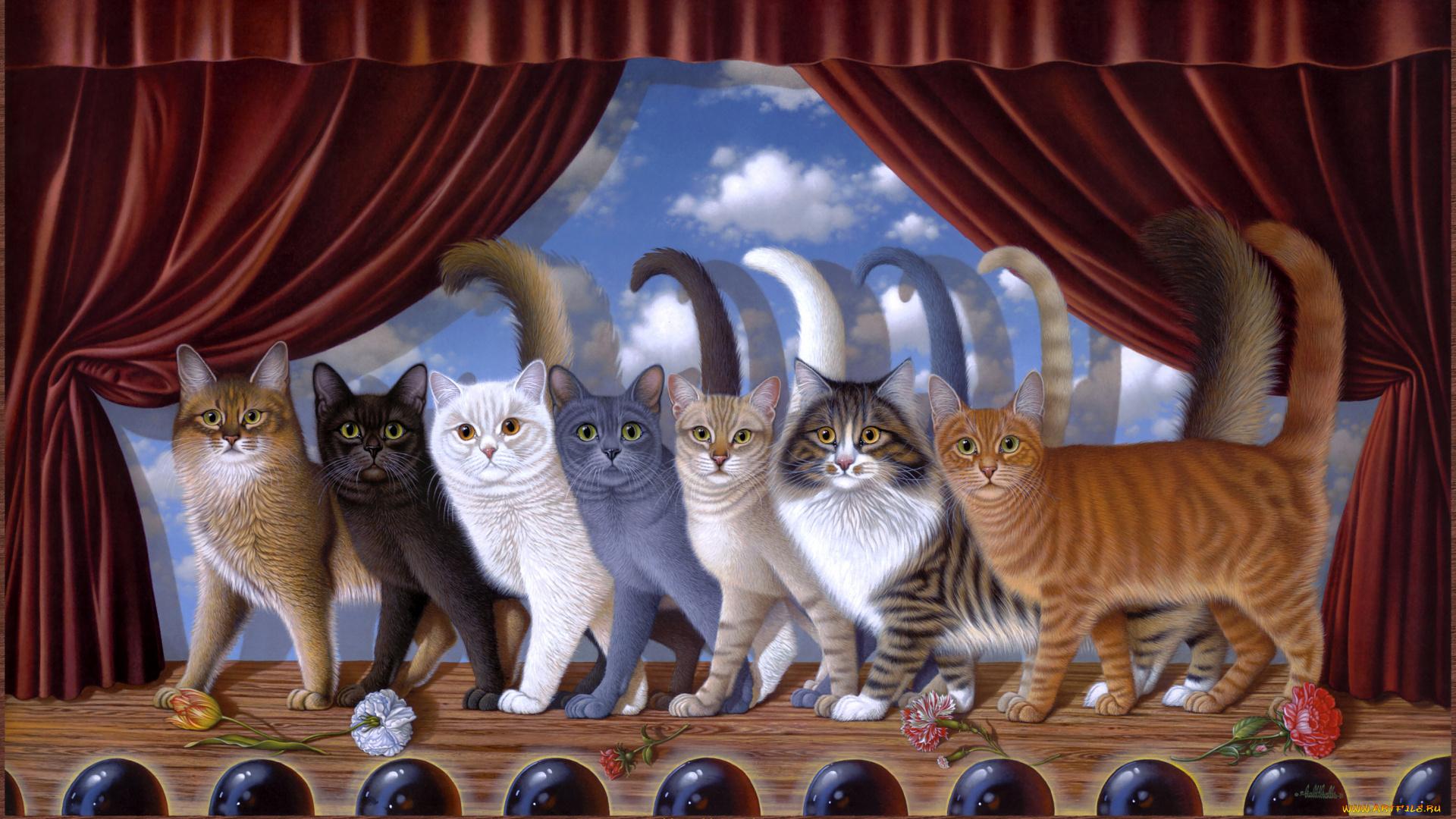 free desktop wallpaper desktop wallpaper-band of cats - HD