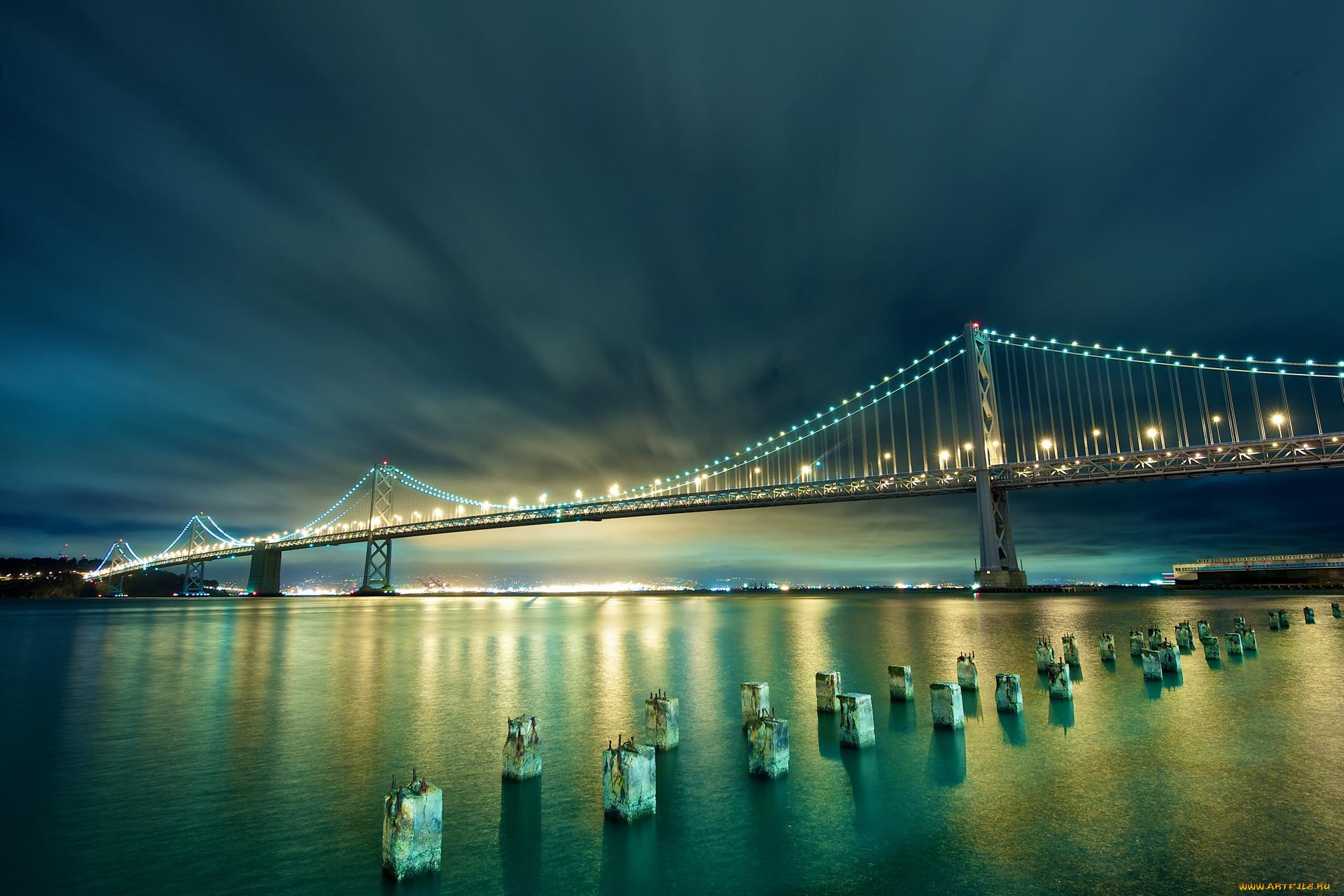 Вантовый мост город ночь скачать
