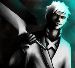 Картинка аниме bleach парень пустой занпакто взгляд арт блич