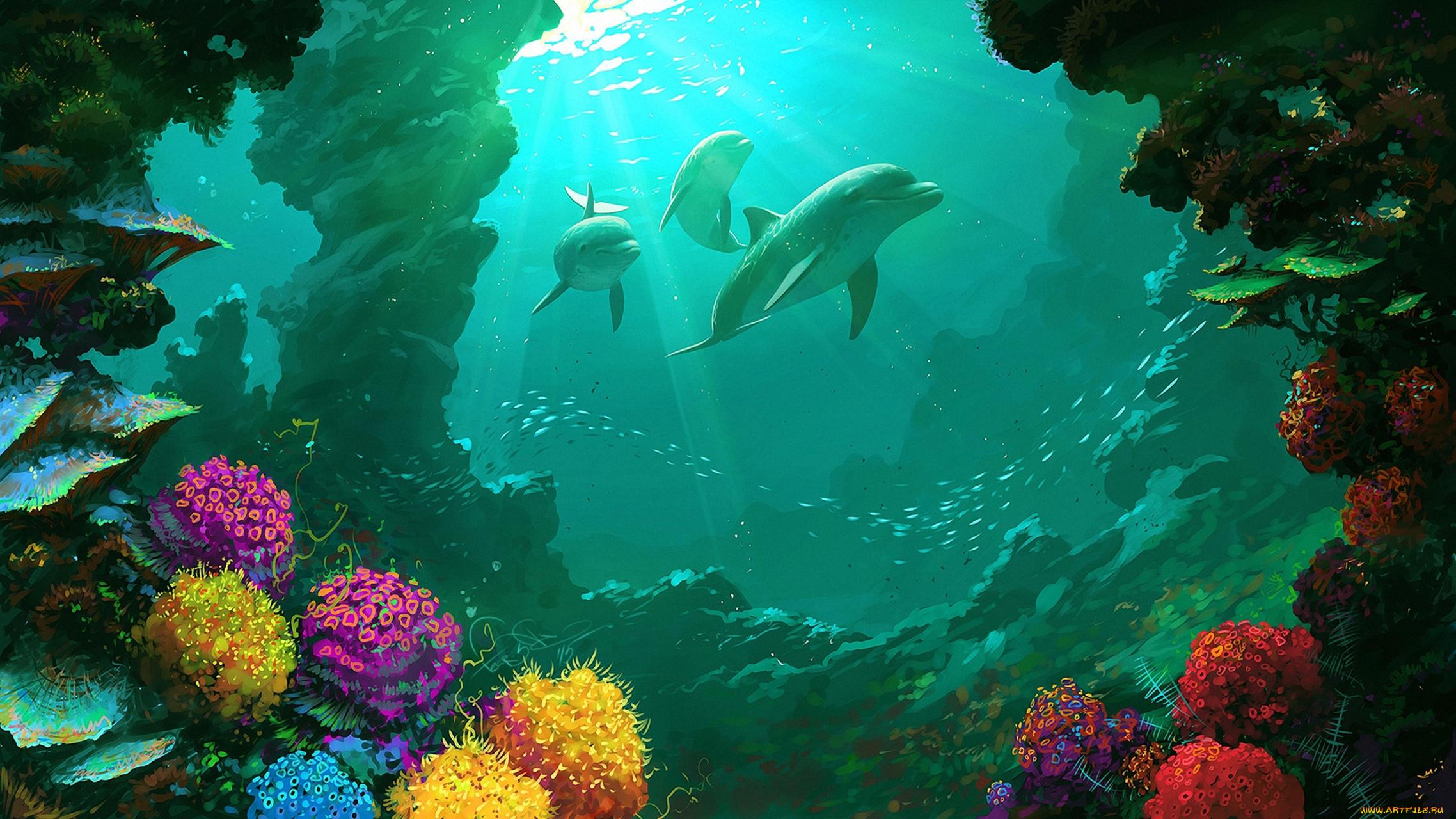 Яркие краски подводного мира  № 618873  скачать