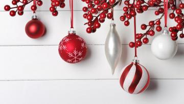 обоя праздничные, - разное , новый год, шары