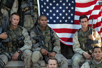 Картинка оружие армия спецназ американский флаг солдаты