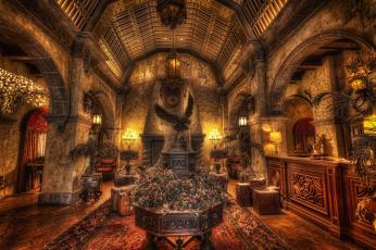 Картинка tower+of+terror+lobby интерьер дворцы +музеи декор комната замок