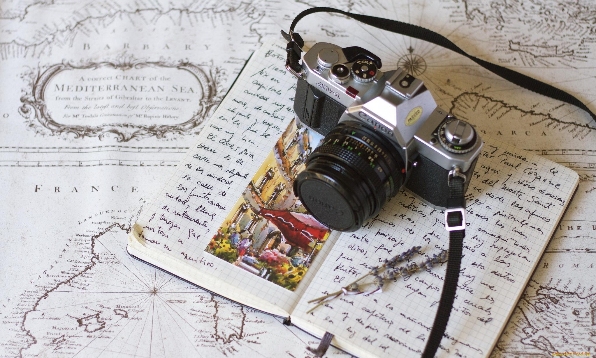 Палитра красками, история фотоаппарата открытки