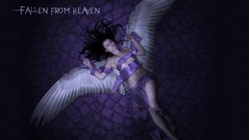 обоя фэнтези, ангелы, крылья, фон, девушка
