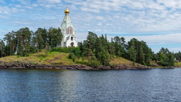Картинка города -+православные+церкви +монастыри скит во имя святителя николая Чудотворца валаам ладожское озеро