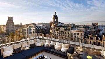 Картинка города барселона+ испания терраса собор панорама