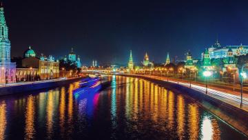 обоя города, москва , россия, московский, кремль, москва, москва-река