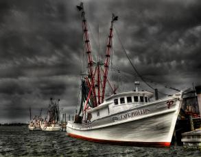 Картинка корабли другое причал рыболовы