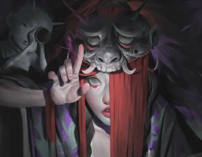 обоя фэнтези, маги,  волшебники, ведьма, шаманка, бесёнок, чертёнок