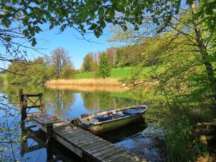 обоя корабли, лодки,  шлюпки, озеро, лодка