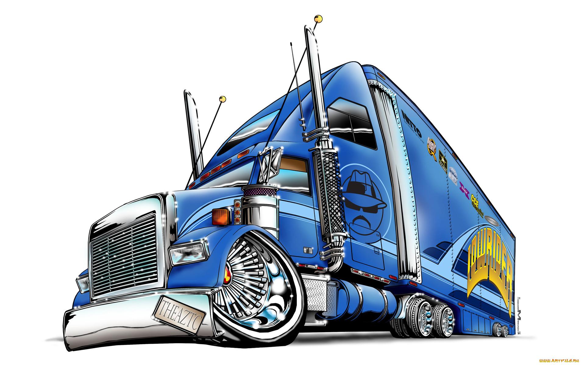 Новым годом, прикольный рисунок грузовика
