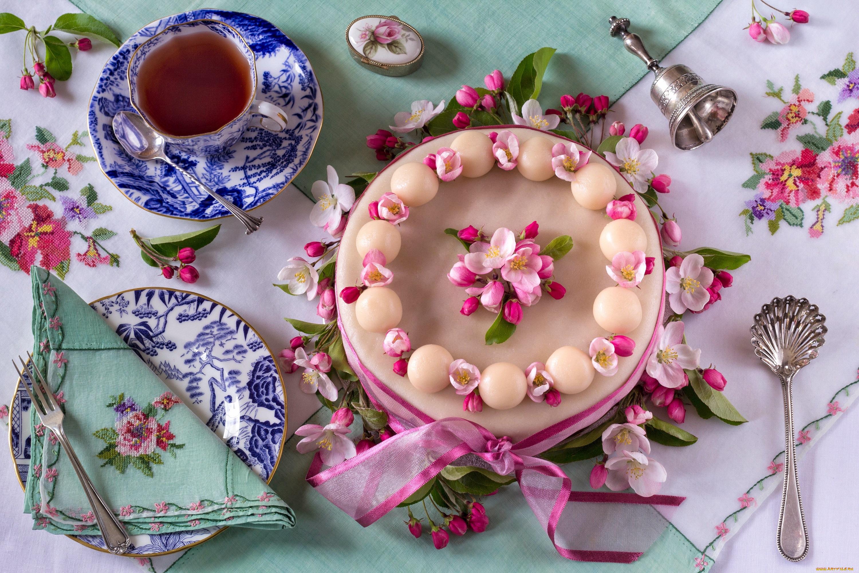 Открытки тортики к чаю, новый год