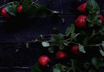 обоя еда, клубника,  земляника, красный, ягоды
