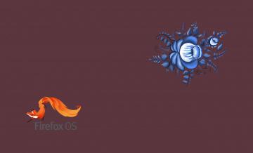 обоя компьютеры, mozilla firefox, фон, логотип