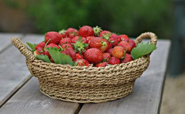 обоя еда, клубника,  земляника, вкусная, сочная, спелая, ягода