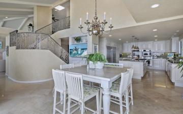 обоя интерьер, кухня, люстра, дизайн, стол, стулья