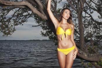 Картинка девушки -unsort+ брюнетки +шатенки бикини океан модель