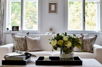 обоя интерьер, декор,  отделка,  сервировка, цветы, гостиная, ваза, диван
