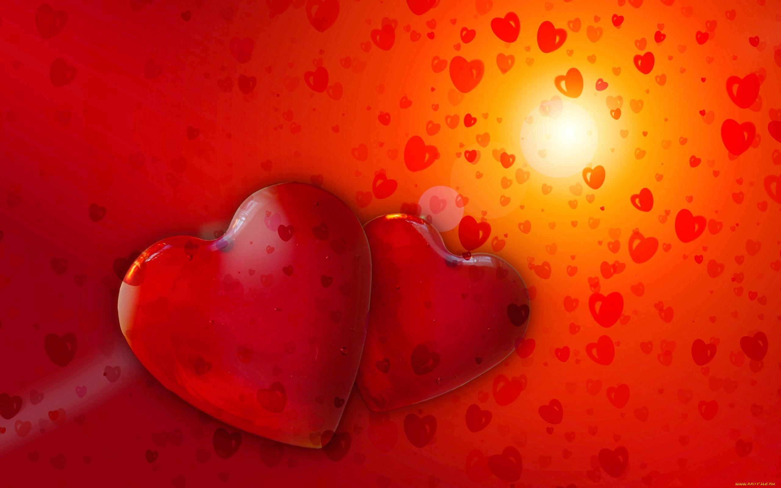 Открытка влюбленное сердце