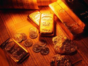 обоя разное, золото, купюры, монеты