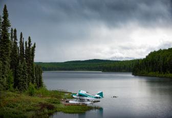 обоя авиация, самолёты амфибии, самолёт, озеро, пейзаж