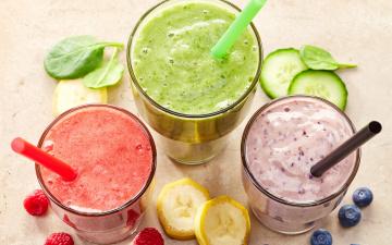 Картинка еда напитки +коктейль коктейль смузи fresh berries fruit smoothie ягоды фрукты банан