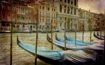 Картинка корабли лодки +шлюпки venice italy city vintage венеция италия город канал гондола
