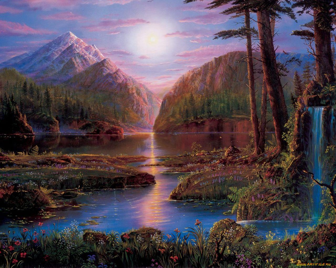 Гифки природа, креативные любовь открытки