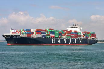Картинка hanjin+yantian корабли грузовые+суда контейнеровоз