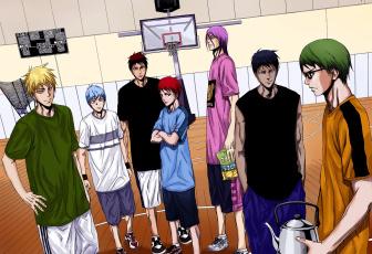 Картинка аниме kuroko+no+baske баскетбол