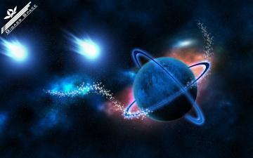Картинка космос разное другое планета синий