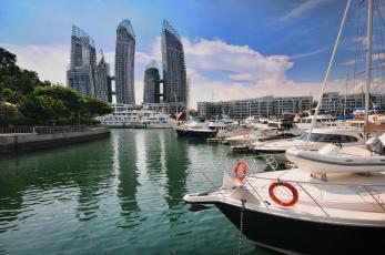 Картинка корабли порты причалы сингапур