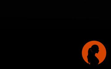 Картинка рисованные минимализм профиль силуэт фон